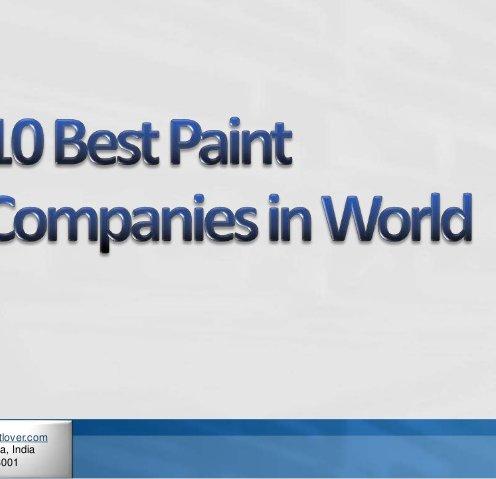 10 Best Paint Companies in