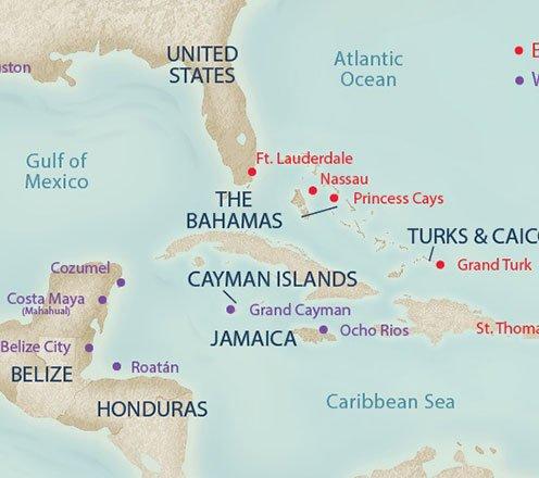 7 Day Caribbean Cruise Map