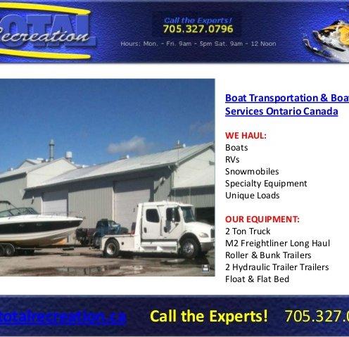 Boat Transportation Services