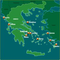 Greece Yacht Charter Map