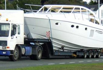 Yacht Transport by road